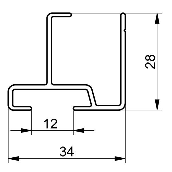 alu ober unterprofil 6090x35. Black Bedroom Furniture Sets. Home Design Ideas