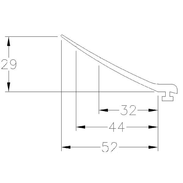 topdichtgummi l lasche 52mm. Black Bedroom Furniture Sets. Home Design Ideas